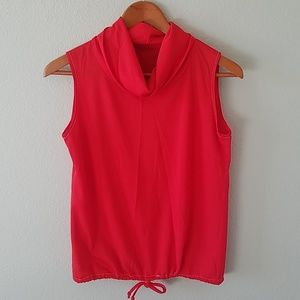 Tops - Red vintage cowl neck tank top